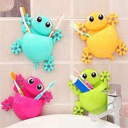 Cold Toy 4PC Cartoon Gecko Home Bad Zahnbürstenhalter Wandhalterung Sucker Lagerregal - 1
