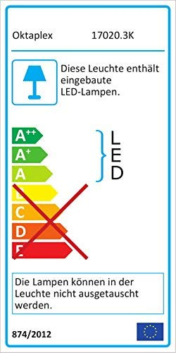 LED Spiegelleuchte BALI S12 | Spiegellicht Bad 60 Cm Breit | Aufbauleuchte 960 Lm 12W Chrom Optik Warmweiß |Oktaplex Lighting Mit IP44 Anschlussbox - 6