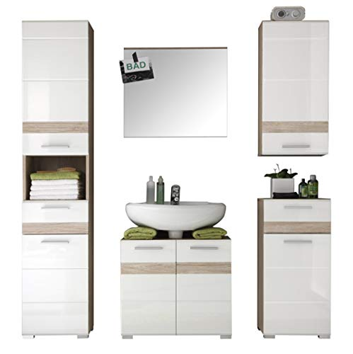 trendteam smart living badezimmer 5teilige set