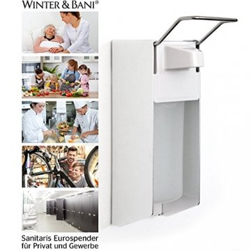 Winter & Bani Sanitaris Eurospender 500 ml | Seifenspender | Desinfektionsmittel Spender - 2